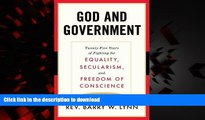 Buy books  God and Government: Twenty-Five Years of Fighting for Equality, Secularism, and Freedom