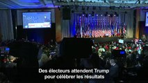 Des électeurs attendent Trump pour célèbrer les résultats