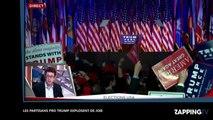 Elections américaines : Donald Trump devient le 45e PR des États-Unis, ses militants explosent de joie