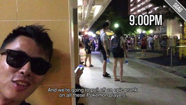 Pokemon Go Prank in Singapore
