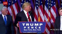 Donald Trump Elected 45th President of the United States ( Trump Speech , News Today )