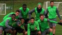 En séance d'entraînement avec les Verts