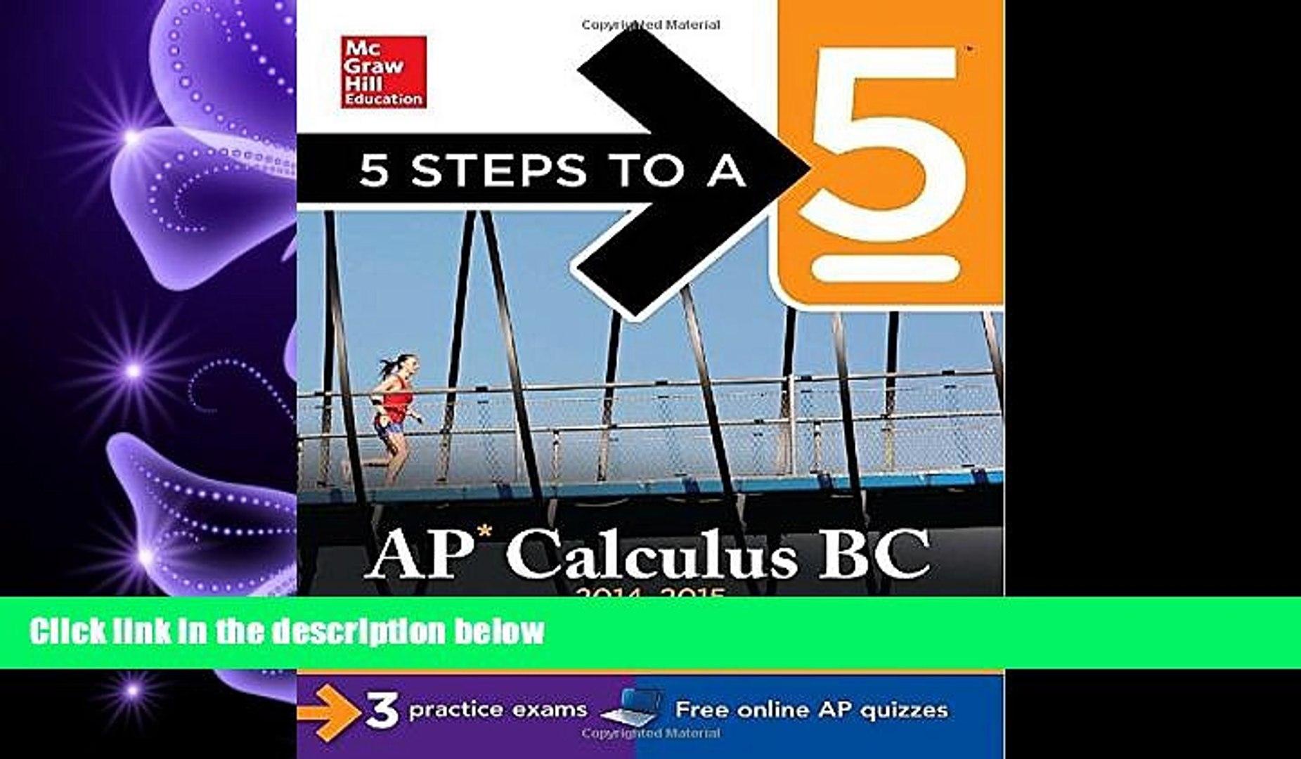 AP Calculus BC, 2014-2015 Edition