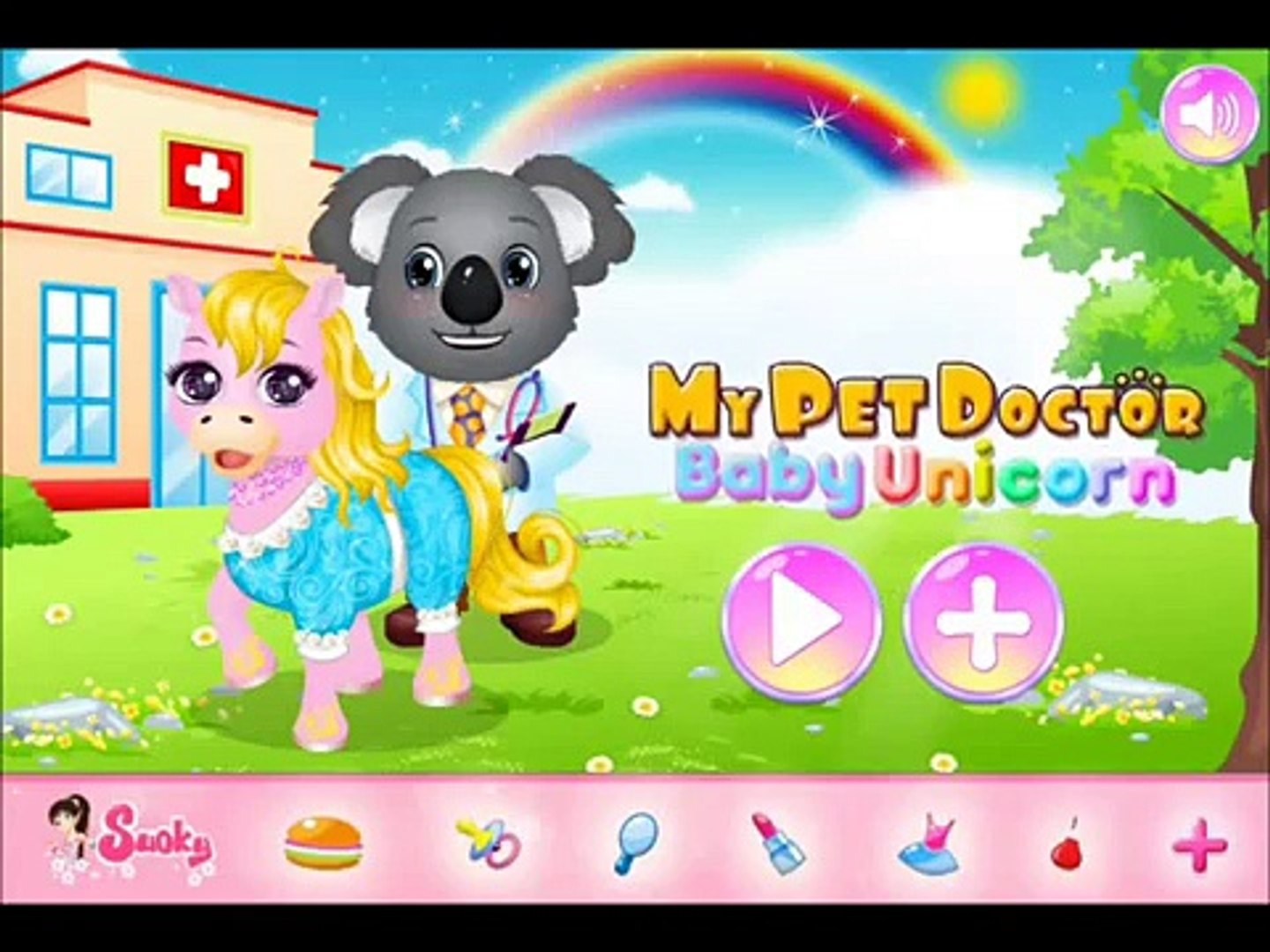Baby Doctor Caring Games-My Pet Doctor Baby Unicorn Video Play-Cute Baby Pet Games