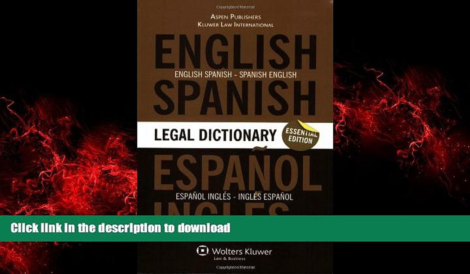 The 1333 Most Frequently Used Legal Terms English-Spanish-English Legal Dictionary