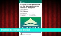Buy books  Critical Care Handbook of the Massachusetts General Hospital: Formerly known as