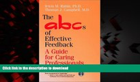 Buy book  The ABCs of Effective Feedback: A Guide for Caring Professionals online for ipad