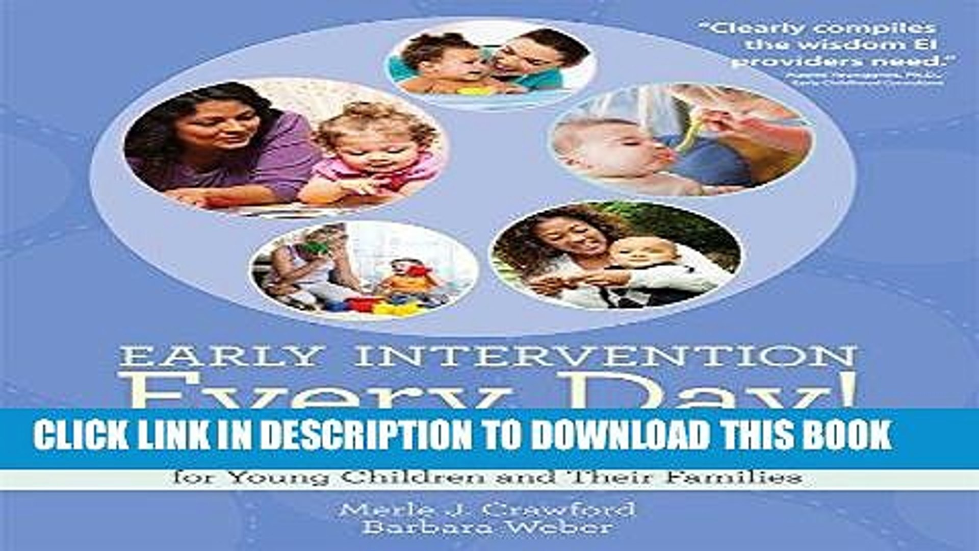 [READ] EBOOK Early Intervention Every Day!: Embedding Activities in Daily Routines for Young