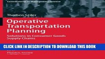 [READ] EBOOK Operative Transportation Planning: Solutions in Consumer Goods Supply Chains