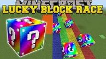 PopularMMOs Minecraft - EXTREME RAINBOW LUCKY BLOCK RACE - Lucky Block Mod - Modded Mini-Game
