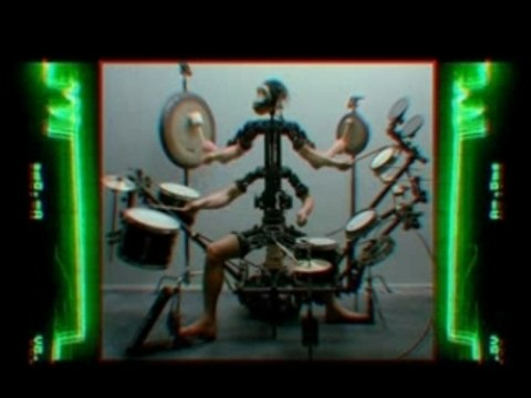 Aphex Twin - Monkey Drummer (Music Video)