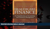 Buy book  Healthcare Finance: An Introduction to Accounting and Financial Management, Fifth