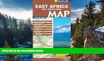 Big Deals  East Africa Road Map 1:2,500,000 (Kenya,Tanzania, Uganda)  Most Wanted