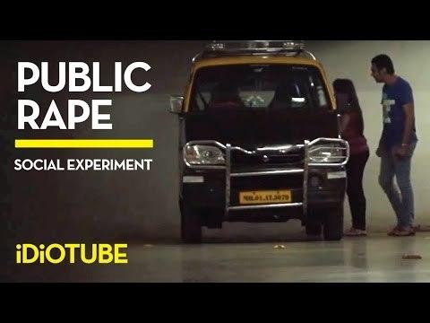 Public Girl Rape Social Experiment!  - iDiOTUBE