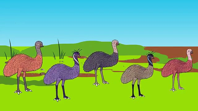 Finger Family Epic Battles Crazy Ostrich Vs Emu | Finger Family Nursery Rhymes