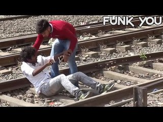 Suicide On The Train Tracks! - [Social Experiment] - Funk You (Prank in India)