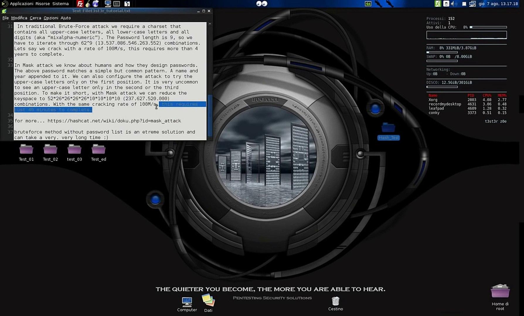 how Crack Hash with Hashcat Kali Linux bruteforce NO Password List Tutorial