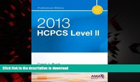 Read book  HCPCS 2013 Level II Professional Edition (Hcpcs (American Medical Assn)) (HCPCS Level