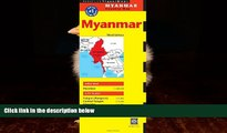 FAVORITE BOOK Myanmar Travel Map Third Edition (Periplus