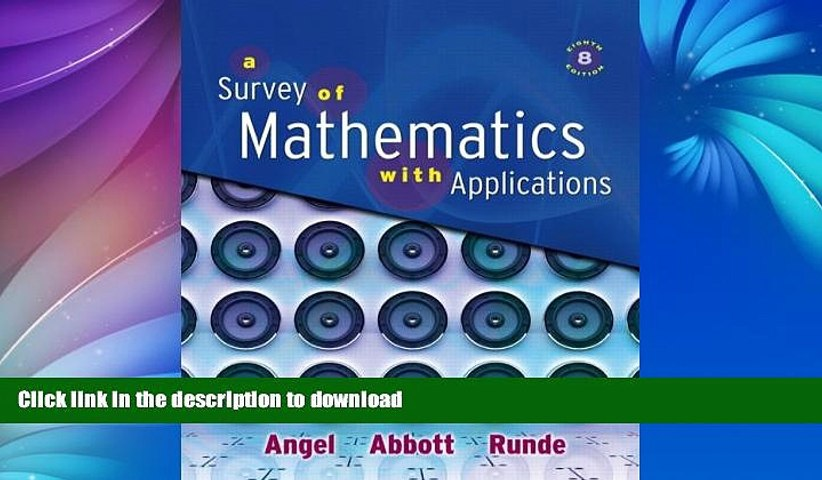 READ BOOK  Survey of Mathematics with Applications Value Pack (includes Math Study Skills