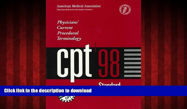 Buy book  Physicians Current Procedural Terminology: CPT 1998 (Cpt / Current Procedural