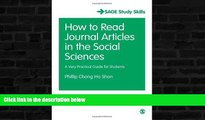READ book  How to Read Journal Articles in the Social Sciences: A Very Practical Guide for