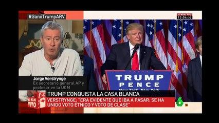 Jorge Verstrynge opinando sobre la victoria de Donald Trump