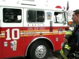 Manoeuvre de camion de pompiers - Caserne 10