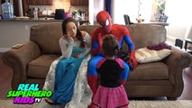 SPIDERMAN and FROZEN ELSA vs DOCTOR SPIDEY! SPIDERMAN and ELSA are SICK! Funny Superheroes