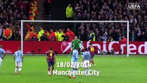 Lionel Messi- All 17 of his UEFA Champions League goals vs English clubs