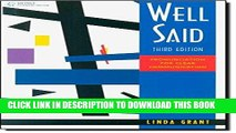 [PDF] Well Said: Pronunciation for Clear Communication Full Collection