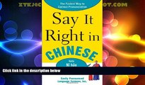 Buy NOW  Say It Right In Chinese (Say It Right! Series)  Premium Ebooks Best Seller in USA