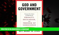Buy book  God and Government: Twenty-Five Years of Fighting for Equality, Secularism, and Freedom