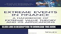 [FREE] EBOOK Extreme Events in Finance: A Handbook of Extreme Value Theory and its Applications