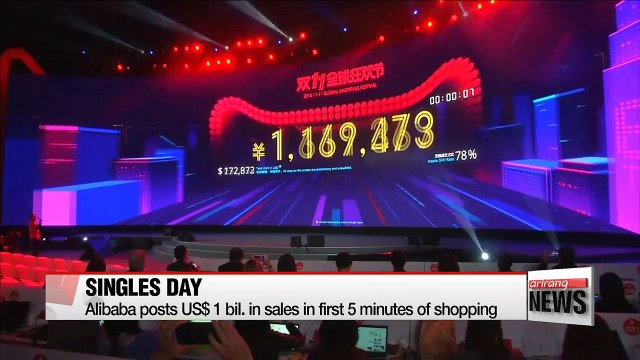 Alibaba posts US$ 1 bil. in sales in first 5 minutes of shopping