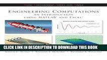 Ebook Engineering Computation: An Introduction Using MATLAB and Excel Free Read