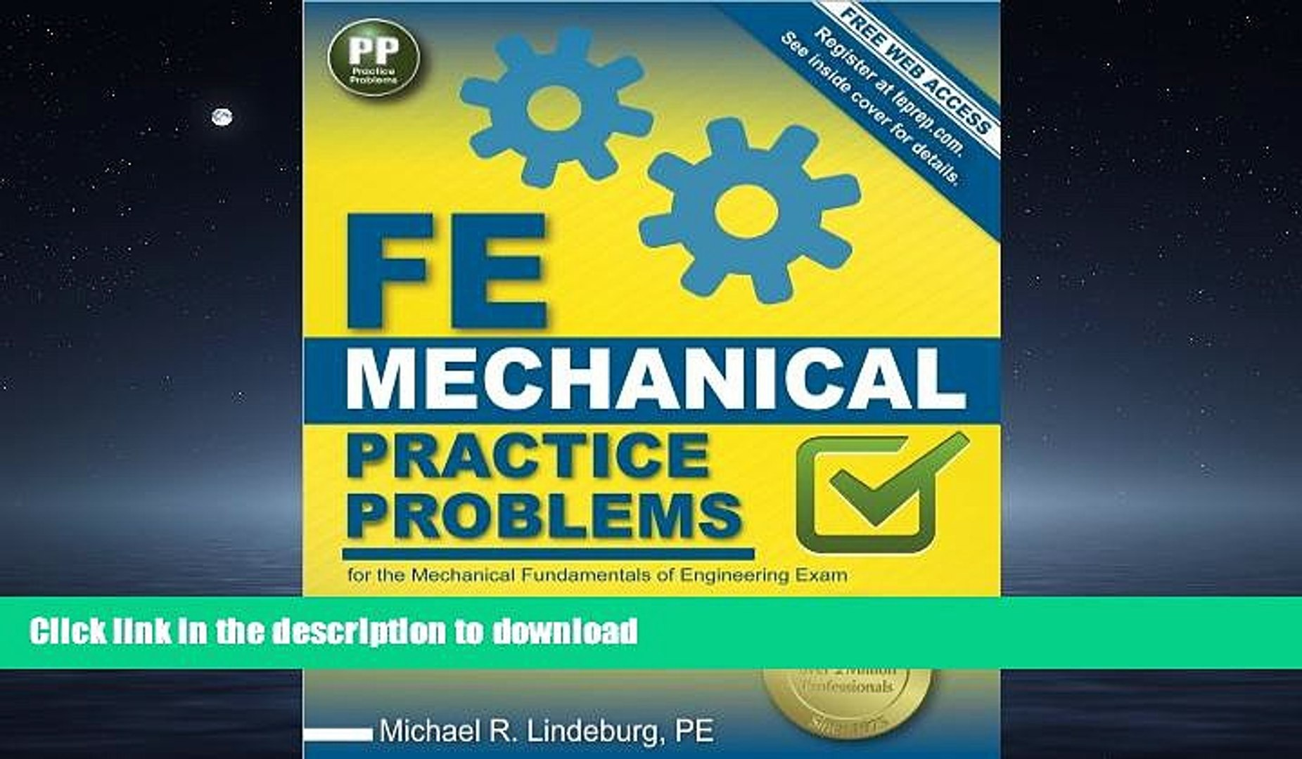 EBOOK ONLINE FE Mechanical Practice Problems PDF ONLINE