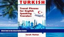 PDF TURKEY TURKISH TRAVEL PHRASES for ENGLISH SPEAKING