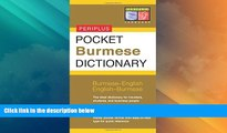 Big Deals  Pocket Burmese Dictionary: Burmese-English English-Burmese (Periplus Pocket