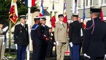 Saint-Lô : remise des insignes de chevalier du mérite au chef d'escadron de gendarmerie Jean-François Cozette