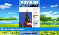 Big Deals  Jr. Thomas R. Beyer: Russian at a Glance : Phrase Book   Dictionary for Travelers