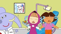 #Masha And Dora Visit Dentist #Too Much Ice Cream #Cry #Funny Story #Rainbow Rhymes