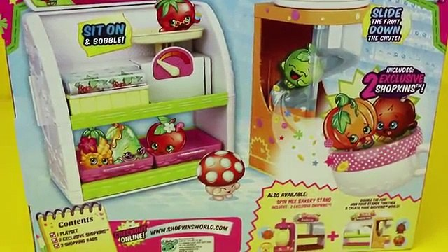 Shopkins With Frozen Elsa, Anna, & Lego Duplo Spider-Man Fruit and Veg Stand DisneyCarToys