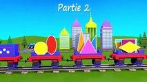 Dessins animés éducatifs. Apprenez les formes géométriques avec le train Tchou-Tchou - 2 !