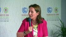 """""""La justice climatique, c'est le cœur du combat climatique"""" : Ségolène Royal - Marrakech : COP22"""