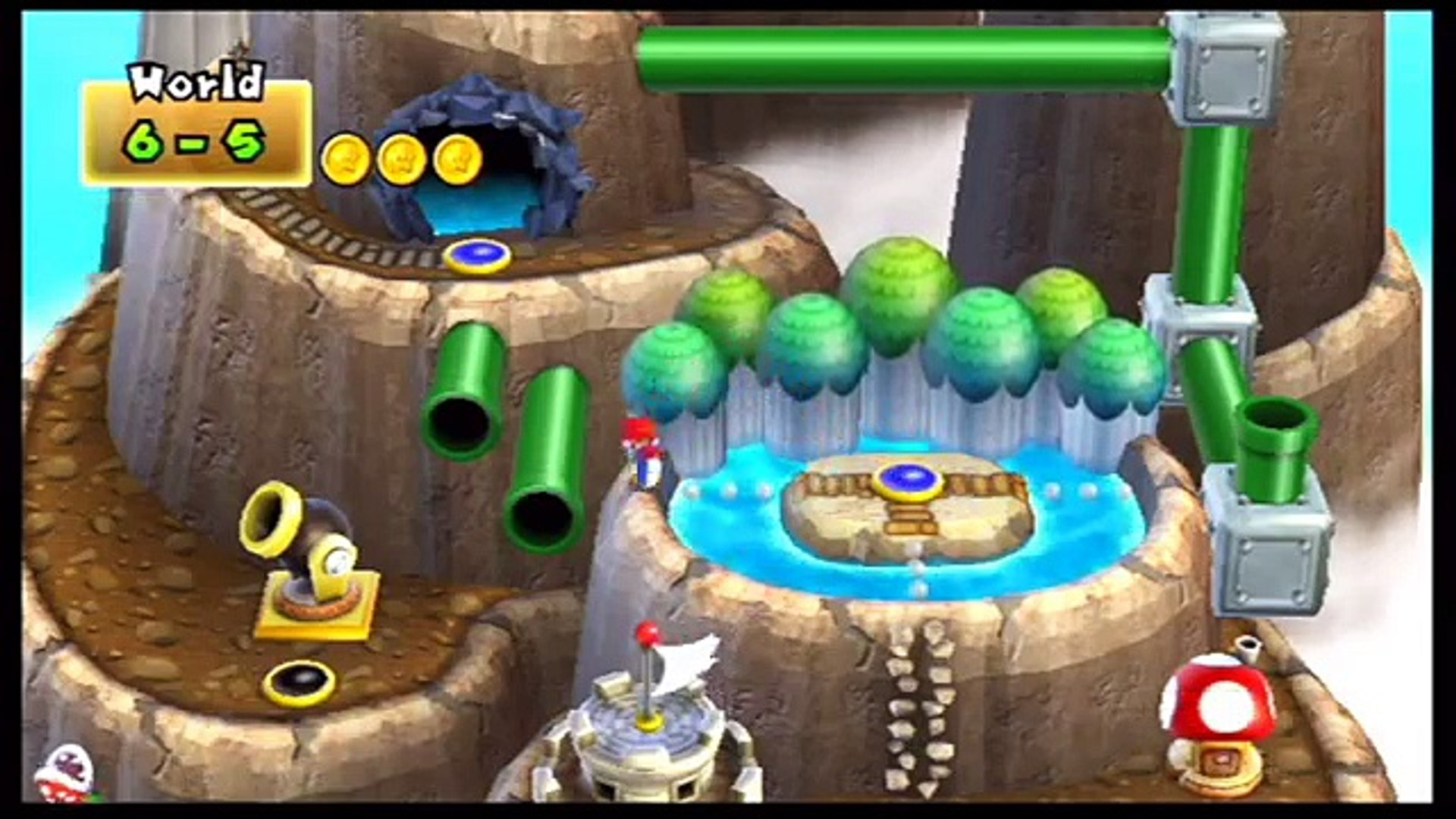 New Super Mario Bros Wii World 6 Unlocking Secret Cannon Dailymotion Video
