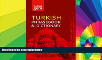 Must Have  Collins Turkish Phrasebook and Dictionary Gem Edition: Essential phrases and words