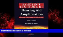 Read book  Sandlin s Textbook of Hearing Aid Amplification: Technical and Clinical Considerations