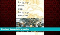 Read books  Language Form and Language Function (Language, Speech, and Communication) online for