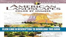 Ebook Creative Haven American Landscapes Color by Number Coloring Book (Adult Coloring) Free Read
